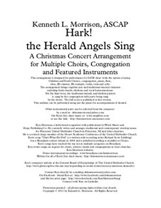Hark! The Herald Angels Sing: Full score, parts, piano-vocal score by Felix Mendelssohn-Bartholdy