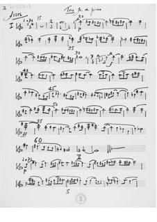 Trio für Flöte, Oboe und Klavier: Stimmen by Ernst Levy