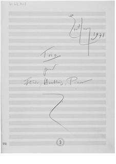 Trio für Flöte, Oboe und Klavier: Skizzen by Ernst Levy