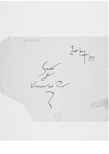 Sonate für Cello und Klavier: Vollpartitur by Ernst Levy