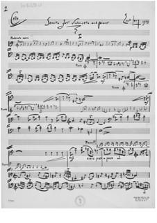 Sonate für Cello und Klavier: Cellostimme by Ernst Levy