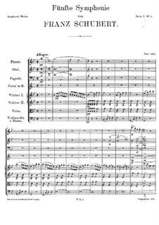 Sinfonie Nr.5 in B-Dur, D.485: Teil I by Franz Schubert