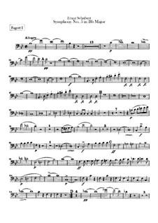 Sinfonie Nr.5 in B-Dur, D.485: Fagottstimme by Franz Schubert