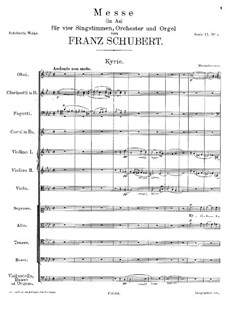 Messe Nr.5 in As-Dur, D.678: Kyrie by Franz Schubert