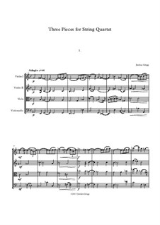 Three Pieces for String Quartet: Three Pieces for String Quartet by Jordan Grigg