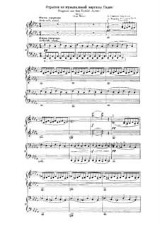 Sadko. Musikalische Gemälde, Op.5: Für Klavier, vierhändig (Fragment) by Nikolai Rimsky-Korsakov