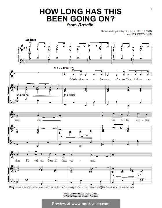 How Long Has This Been Going On?: Für Stimme und Klavier by George Gershwin