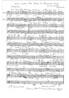 Con-Sor-Ti-Um Song in Bachian Style: Con-Sor-Ti-Um Song in Bachian Style by Daniel Mihai