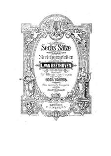 Streichquartett Nr.7 in F-Dur, Op.59 No.1: Adagio, für Klavier by Ludwig van Beethoven