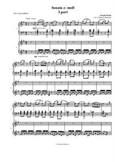 Sonate für Klavier Nr.53 in e-Moll, Hob.XVI/34: Movement III. Arrangement for two accordions by Joseph Haydn