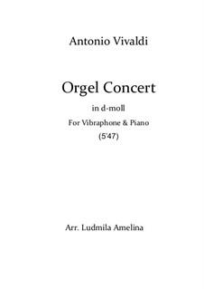 Konzert für zwei Violinen, Cello und Streicher Nr.11 in d-Moll, RV 565: Version for vibraphone and piano by Antonio Vivaldi
