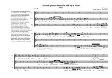 6 choir pieces based in old style: No.6 (1CT, 1T, 1B), MVWV 504 by Maurice Verheul