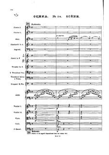 Nr.14 Scène: Partitur by Pjotr Tschaikowski