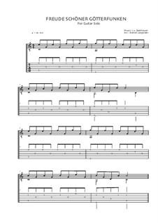 Ode an die Freude: Version für Gitarre (Freude schöner Götterfunken) by Ludwig van Beethoven