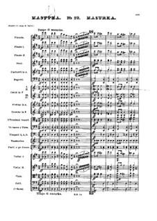Nr.23 Mazurka: Partitur by Pjotr Tschaikowski