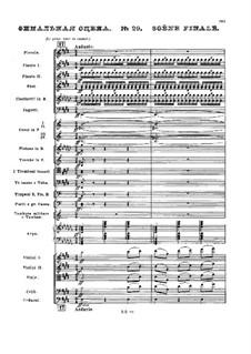 Nr.29 Scène finale: Partitur by Pjotr Tschaikowski