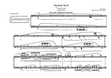 Nocturne No.13 for piano, MVWV 733: Nocturne No.13 for piano by Maurice Verheul