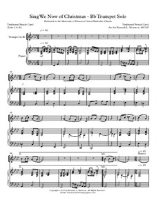 Sing We Now of Christmas (from Morning Star): For Bb trumpet solo by folklore