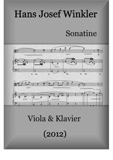 Sonate (2012): Für Viola und Klavier by Hans Josef Winkler
