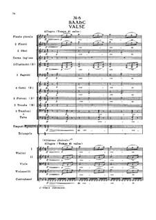 Fragmente: Akt I, Nr.6 Walzer by Pjotr Tschaikowski