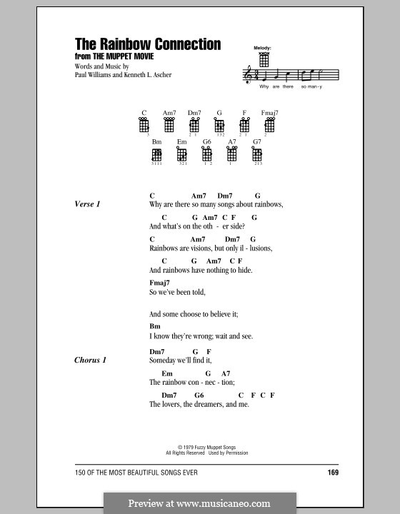 The Rainbow Connection (Kermit the Frog): Für Ukulele by Paul H. Williams, Kenneth L. Ascher