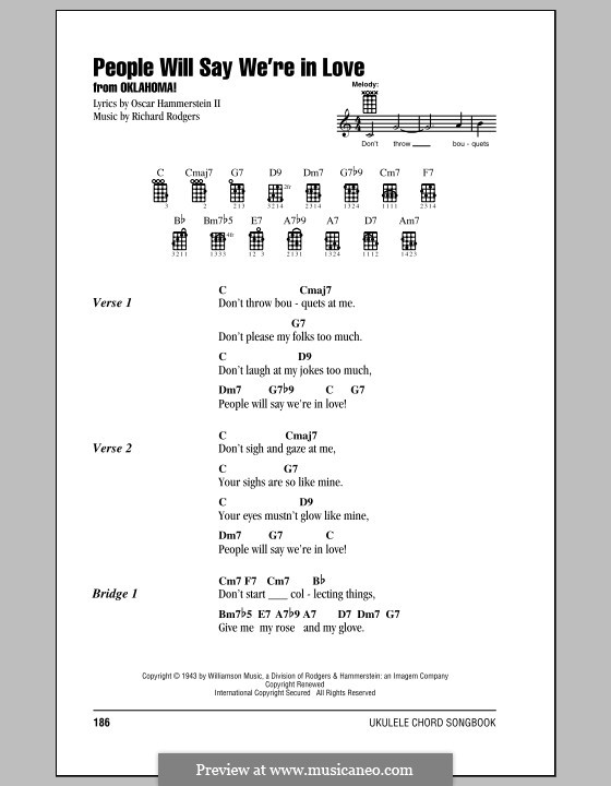 People will Say We're in Love: Für Ukulele by Richard Rodgers