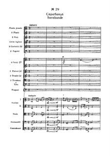 Fragmente: Akt III, Nr.29 Sarabande by Pjotr Tschaikowski