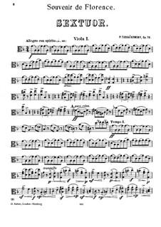 Streichsextett 'Souvenir de Florence', TH 118 Op.70: Violasstimmen by Pjotr Tschaikowski