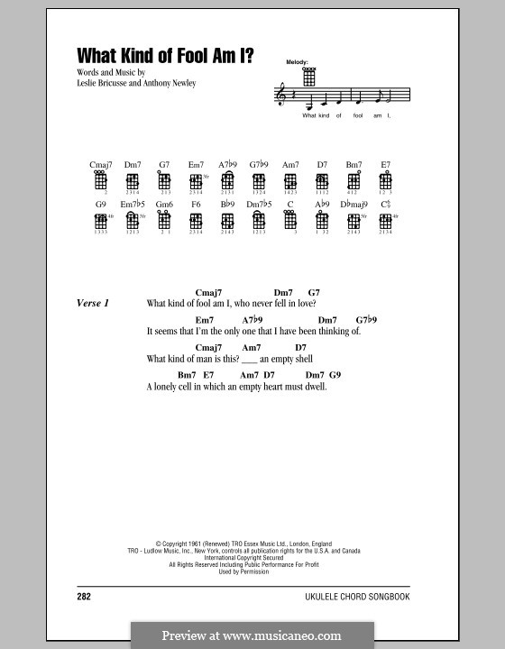 What Kind of Fool am I: Für Ukulele by Anthony Newley, Leslie Bricusse