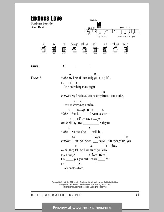 Endless Love: Für Ukulele by Lionel Richie