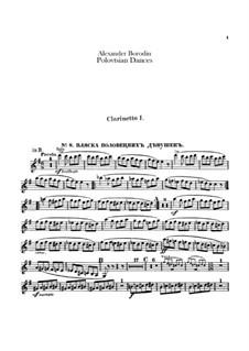 Die Polowetzer Tänze: Klarinettenstimme by Alexander Porfiryevich Borodin