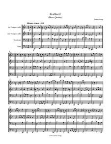 Galliard (Brass Quartet): Galliard (Brass Quartet) by Jordan Grigg