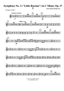Teil I: Trompete in B 2 (transponierte Stimme) by Pjotr Tschaikowski