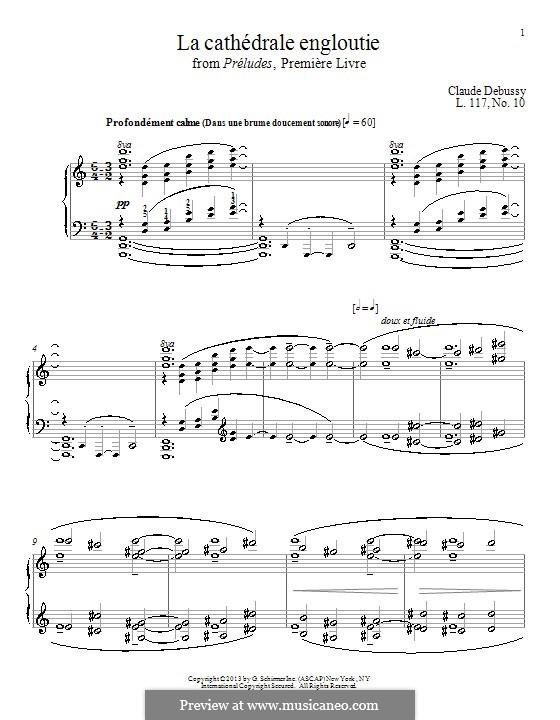 Nr.10 Die versunkene Kathedrale: Für Klavier by Claude Debussy