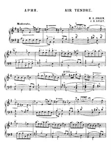 Air tendre: Für Klavier by Jean-Baptiste Lully