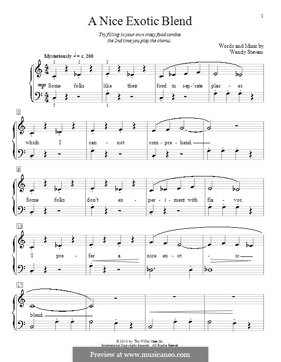 A Nice Exotic Blend: Für Klavier by Wendy Stevens