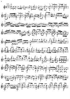 Sonate für Violine Nr.1 in g-Moll, BWV 1001: Movement II (Fuga), for guitar by Johann Sebastian Bach