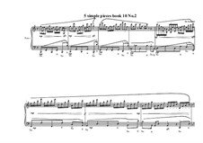 5 Simple pieces for piano: Tenth book No.2, MVWV 734 by Maurice Verheul