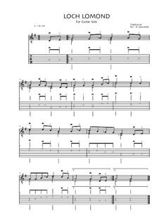 Loch Lomond: Für Gitarre by folklore