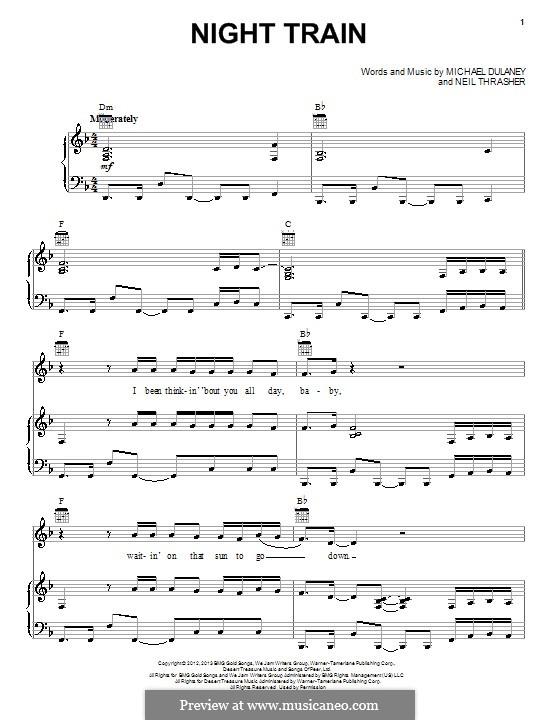 Night Train: Für Stimme und Klavier (oder Gitarre) by Michael Dulaney, Neil Thrasher