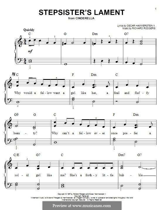 Stepsisters' Lament (from Cinderella): Für Klavier by Richard Rodgers