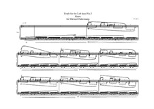 Etude for the Left hand No.2, MVWV 397: Etude for the Left hand No.2 by Maurice Verheul