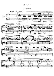 Sonatine für Klavier in fis-Moll, M.40: Für einen Interpreten by Maurice Ravel