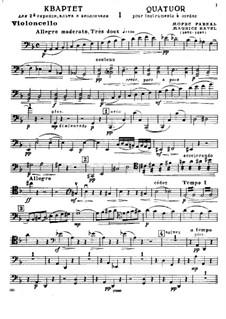 Streichquartett in F-Dur, M.35: Cellostimme by Maurice Ravel