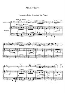 Sonatine für Klavier in fis-Moll, M.40: Menuett. Version für Cello und Klavier by Maurice Ravel