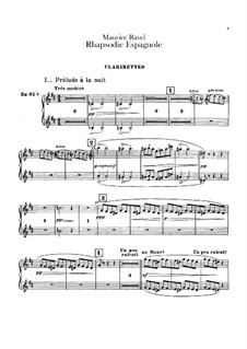 Spanische Rhapsodie, M.54: Klarinettenstimmen by Maurice Ravel