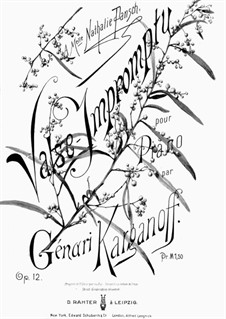 Valse-Impromptu, Op.12: Valse-Impromptu by Genari Karganoff