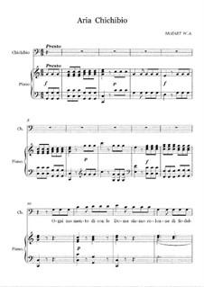 Die Gans von Kairo, K.422: Aria Chichibio 'Ogni Momento' by Wolfgang Amadeus Mozart