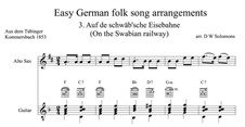 Auf de Schwäb'sche Eisebahne: Für Altsax und Gitarre by folklore