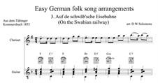 Auf de Schwäb'sche Eisebahne: Für Klarinette und Gitarre by folklore